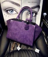 2014 Korean  winter frosted smiley bat simple casual commuter  handbag shoulder messenger bag zipper 6