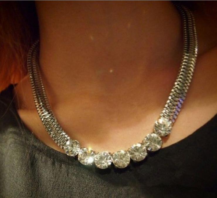 Wholesale/Retail New Fashion Accessories Personalized Modern Shining Rhinestone Choker Chain Necklace GNX0166(China (Mainland))