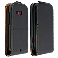 200 pcs/lot  Flip Style Genuine Leather Skin Case Cover for HTC Desire C