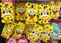 3D Spongebob Squarepants Cartoon Silicone Cover Phone Case Skin Protective For Samsung i9500 Galaxy S IV S4