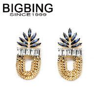 BigBing Fashion drop crystal tassel dangle earrings fashion earring fashion jewelry nickel free Free shipping!  NA322