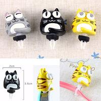 New Cat Plugy Three Colors ; Earphone Jacket Plug Jack Stopper Phone4 4s Plug Ear Hole Cap Jack Socket plug30