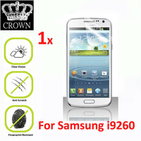 For Samsung Galaxy Premier i9260 Premium HD Clear Screen Protector Protective Film With Cleaning Cloth in Retail Package