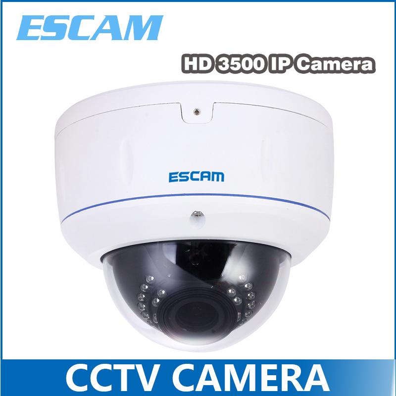 ESCAM HD3500V TI H.264 ONVIF POE 1080P IR Waterproof 2.8-12 Varifocal Lens Dome IP Surveillance IP Camera 2.0MP(China (Mainland))