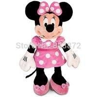 "Original Minnie Mouse Toys Large Big 26"" 65CM Minnie Pink Stuffed Toys Pelucia Mickey Friend Minnie Plush Toys for Children"