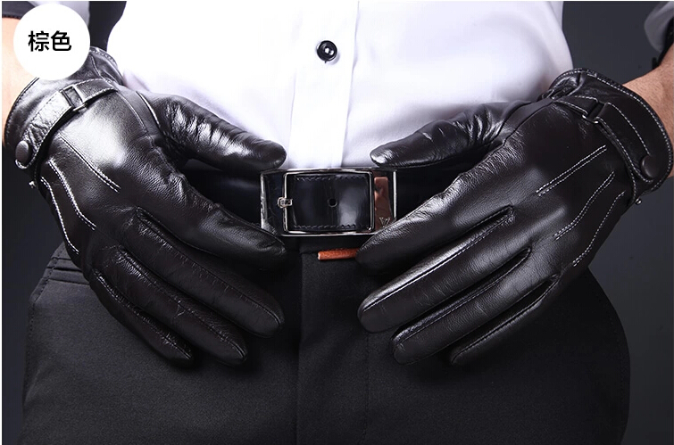 Thin Leather Gloves For Men Men's Leather Gloves More Warm