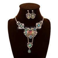 Fashion wedding jewelry sets brand bijoux necklace sets for bride accessories wholesale