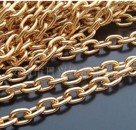 10X7mm gold Aluminium chain big gold chain for jewelry making wholesale 20m/lot(IB2094)(China (Mainland))