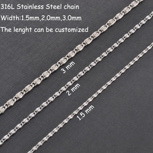 Free shipping hot selling 1.5-3mm width small 316L stainless steel chain necklaces,women fashion pendant necklaces jewelry R007
