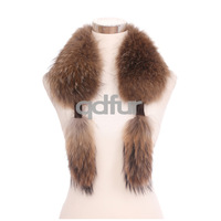 Fashion Ladies Winter Nicely Genuine Raccoon Fur Scarf Collar Accessory Women Neckerchief Wrap Party Shawl QD30541