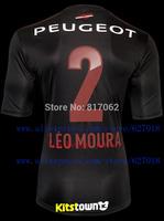 A+++ Top Men Thailand 2# Leo Moura Soccer Jersey Clube de Regatas do Flamengo 13 14 Black 3RD Thai Futbol Shirt Embroidery