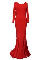 2014 vestido de festa longo bodycon sexy women dresses evening Red White Ceremony Backless White Mermaid Maxi Dress LC6756