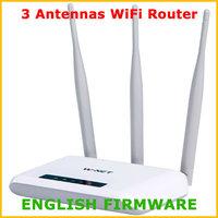 W-NET U710 300Mbps WiFi Wireless Router Wifi Repeater 3 Antennas 802.11G/B/N 2 LAN Ports Network Range Expander English Firmware