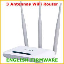 W-net U710 300 Mbps Wi Fi Wifi roteador sem fio Wi Fi repetidor 3 antenas 802.11 G / B / N Wi Fi rede faixa Expander inglês Firmware(China (Mainland))