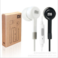 Xiaomi Black White Earphone Headphone With Mic And Remote Control + Retail Box For Xiaomi Samsung iPhone 200pcs DHL Free Ship