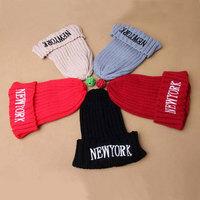 Newest winter children knitting wool caps boys woolen yarn hat girls' warm woolen yarn hats child Beanies