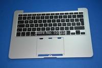 "New Original Top Case For Macbook Pro Retina 13"" A1502 2013 Swedish Finland Topcase Palmrest with  Keyboard"