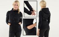 Hot sale Lulu Hoodie sweatshirts tops coat size us2 4 6 8 10 12  Big size Discounted Yoga Scuba hoodie/Jackets Free shipping