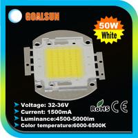 2pcs/lot Free Shipping High Power 50W LED Chip 4500LM~5000LM ,1500mA 32-36V COB white/Warm white 50watt lamp beads