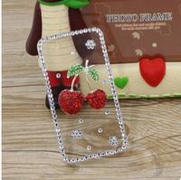 2014 New Rhinestone Diamond Case Back Cover Skin Case Transparent Protector Case For Huawei U8950 U8950D G600 U9508 Honor 2