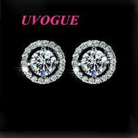 New top quality classic fashion Hearts & Arrows cut 0.75 carat AAA Swiss CZ Diamond Stud Earring (UVOGUE UE0012)