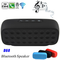 D68 Bluetooth Mini Speaker Bluetooth V3.0 with Wireless Microphone FM Radio TF Card Slot Handsfree for Smart Phone Tablet PC