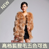 Fur coat 2014 fox fur coat medium-long short design female overcoat