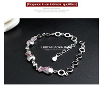 925 sterling silver jewelry strange fish bubble bracelets fashion wild Ms. Silver Bracelet
