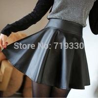 European Brand New Fashion Winter Women Skirts Faux Leather Short Mini Skirt Free Size Saia PU Leather Saias Free Shipping