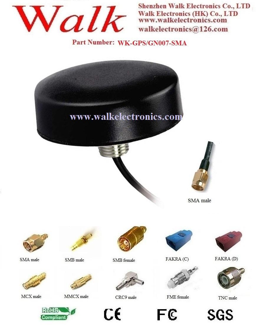 waterproof screw mount GPS Glonass 3G GSM WIFI Combo Antenna RG174 cable(China (Mainland))