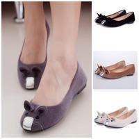Hot-Selling 4 Colors 2014  Flats for Women Single Shoes Cute Mouse Flat Heel Women's Flats   Fashion Free Shipping