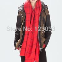 Long scarf shawl dual British style female thick warm scarf