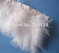 Free Shipping 1M/lot  Beautiful white turkey Feather marabou feather trimming/ fringe/ribbon dress jewelry/Christmas decoration