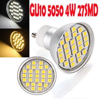 GU10 Led 4W Warm White White 5050SMD 27 LED Dimmable Spot Light Led Lamp Bulb Energy Saving 220-265V 300LM 2600K 5500K