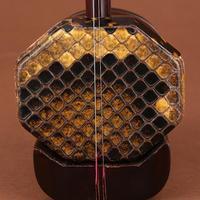 Authentic India lobular rosewood panlong sent high-grade flat octagonal erhu violin case genuine parts materials  Free shipping