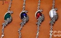 925 sterling silver jewelry Thai silver bracelets women beautiful peacock bracelet Valentine's Day gifts