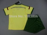 Best quality AC milan youth soccer kits 2014-15 AC milan home away kids child boys soccer uniform size 16-28 free custom