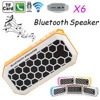 NEW Bluetooth Speaker X6 Super Bass Speakers Wireless Microphone TF U Disk Slot Speakerphone FM Landyard Handsfree for S5 Note4