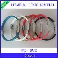 Free shipping Hot Sale Titanium Ionic Magnetic Bracelet Band Power Hologram Sports Ion Balance Silicone Tourmaline 10pcs lot