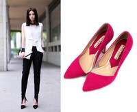 New fashion side empty point design high heels Women light mouth single shoes