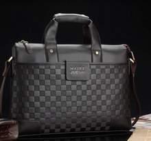 "2014 New Men Luxury Brand Briefcase LEATHER Cowhide Business HandBags Men's Messenger Portable Briefcases Men's 14"" Laptop Bag(China (Mainland))"