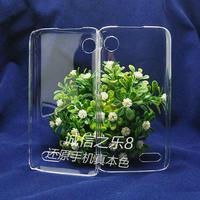 Lenovo A398T  high quality PC Ultra-thin hard  transparent back cover case  , MOQ:1pcs . wholesale