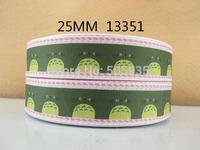 50Y13351 david ribbon free shipping 1'' printed ribbon Grosgrain ribbon for packing and bow garment accessoires