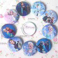 2014 Frozen Cartoon Pin Badge 4.5cm Anna Elsa Princess Olaf Costume Cosplay Boys Girls Toy Fashion Badges HOT SALE