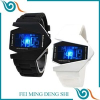 Gift for boys mans students Silicone Watches LED Light Digital Watch Sports Quartz Wrist Watches colourful Bomber military