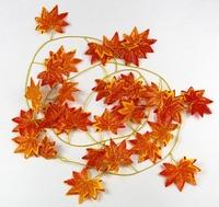 Fashion DIY Artificial Flowers Vine Silk maple leaf Wedding Vine Plant wedding decoration simulation flowers vines decorative