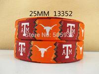 50Y13352 david ribbon free shipping 1'' printed ribbon Grosgrain ribbon for packing and bow garment accessoires