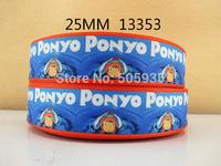 50Y13353 david ribbon free shipping 1'' printed ribbon Grosgrain ribbon for packing and bow garment accessoires
