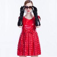 Women's new dress brand leather dress leather dress wholesale