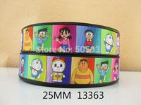 50Y13363 david ribbon free shipping 1'' printed ribbon Grosgrain ribbon for packing and bow garment accessoires